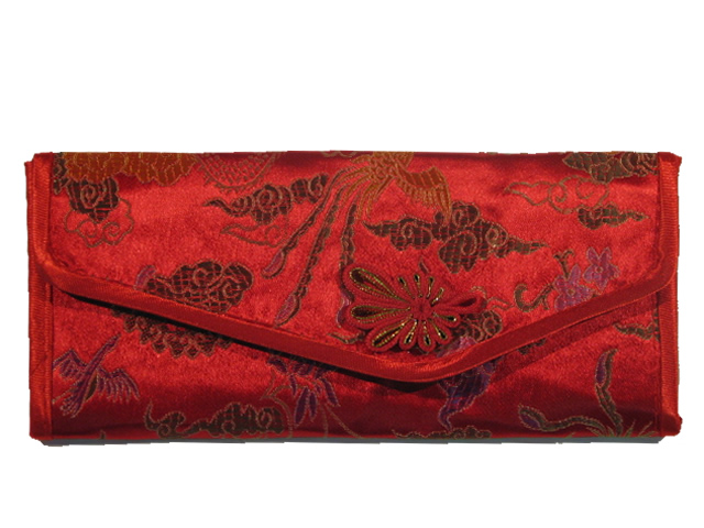 Small Ladies Wallet - Red with Butterflies