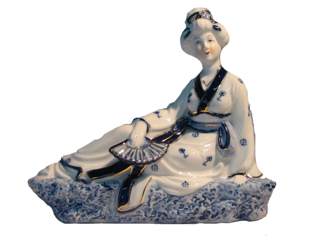 Reclining Asian Lady - Left