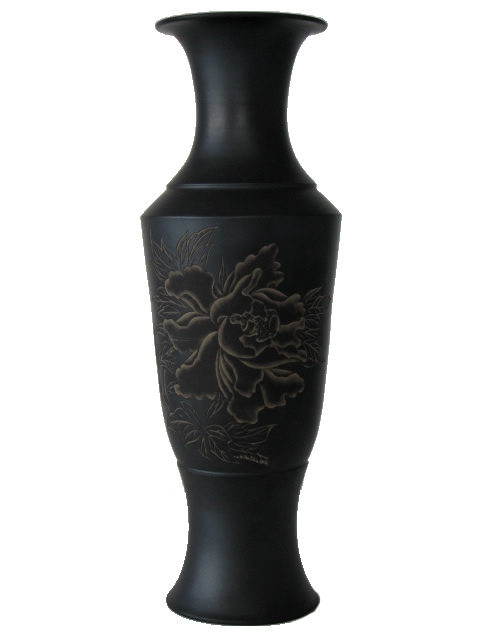 Vase with Carved Peony