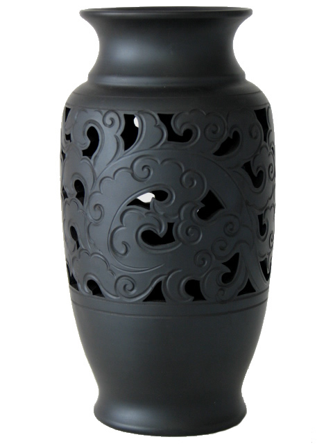 Dry Vase with Scroll Pattern