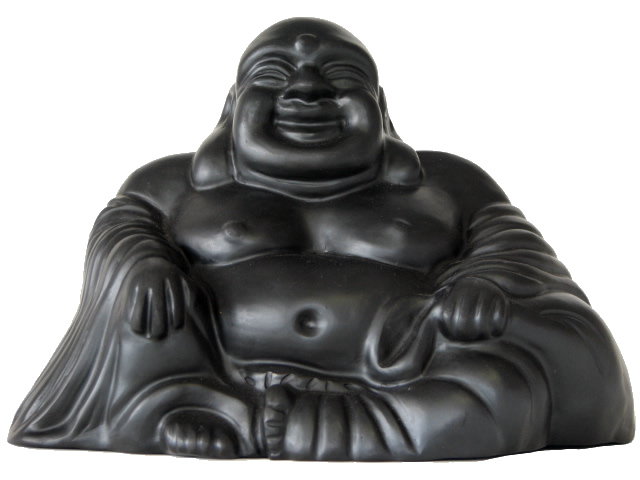 Chan Buddha in Black Pottery