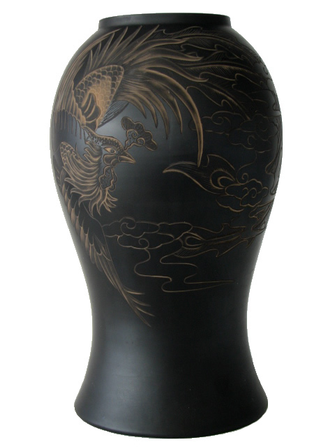 Vase with Carved Phoenix